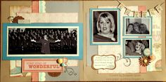 Paper Goodness: Creating from the Heart: Scrapbook Pages