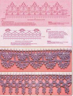 4 Fantásticas puntillas crochet | Crochet y Dos agujas