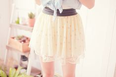 Would be such a cute skirt if it was modest. ♡