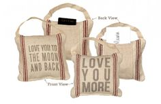 Feedsack Feel Mini Pillows with Pockets - Decor Steals~Enjoy Todays Steal from DECOR STEALS