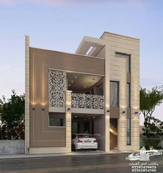 Most Amazing Prefer House Design Forever - Engineering Discoveries Modern Exterior House Designs, Modern House Facades, Latest House Designs, Modern Architecture House, Modern House Plans, Modern House Design, House Outside Design, House Front Design, Small House Design