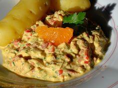 Curry-Geflügelsalat mit Clementinen German Salads, Ciabatta, Chili, Foodblogger, Guacamole, Potato Salad, Mashed Potatoes, Curry, German Recipes