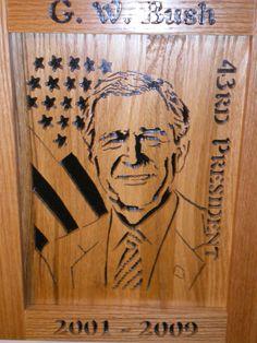 G.W. Bush 43rd President, 2001 to 2009 Plaque
