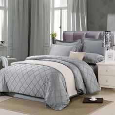 Find More Bedding Sets Information about Ruffled Grid Pure Color King Queen Size Bedding Sets 4pcs Duvet Cover Sheet Satin housse de couette Totoro cama shark bedding,High Quality bedding flat sheet,China sheet mask Suppliers, Cheap bedding fashion from Top Qulity Human Hair Factory on Aliexpress.com