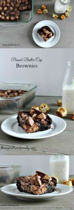Peanut Butter Cup Brownies are the perfect ooey gooey dessert idea.