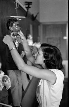 Puppet-making. Photograph by Ralph Crane, June 1951.