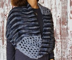 Knit Cowl Pattern - perfect for a variegated yarn and a solid color yarn
