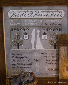 Pride & Prejudice pattern from The Primitive Hare!  Can't wait to stitch this.