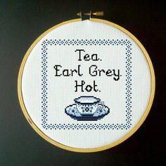 Tea+Earl+Grey+Hot++Cross+Stitch+PDF+Pattern+by+LadyBeta+on+Etsy,+$3.00