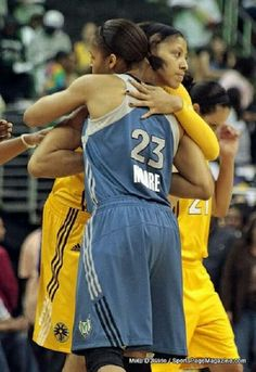 Candace Parker and Maya Moore in LA.
