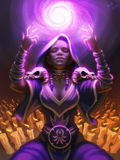 Hearthstone Hooded Acolyte by burncomics on DeviantArt Fantasy Inspiration, Character Inspiration, Character Art, Character Design, Character Ideas, Dungeons And Dragons Characters, Dnd Characters, Fantasy Characters, Black Characters