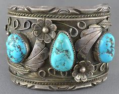 Signed Vintage Navajo Sterling Silver and Turquoise Bangle Cuff. Navajo Jewelry, Southwest Jewelry, Boho Jewelry, Antique Jewelry, Silver Jewelry, Vintage Jewelry, Jewelry Design, Fashion Jewelry, Women Jewelry