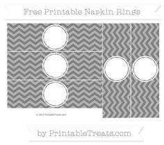 Free Grey Chevron Blank Napkin Rings