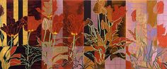 Kushner's paintings achieved their mature style in the late 1980s when the artist began to focus upon the theme of flowers. Description from wetcanvas.com. I searched for this on bing.com/images