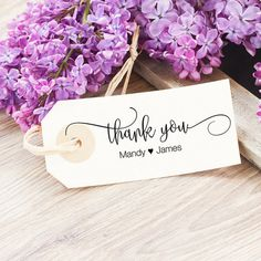 Personalized Thank You Gift Tag Stamp by SouthernPaperAndInk. Shop now to personalize your stamp.