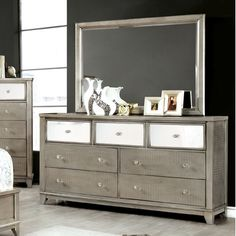 Hokku Designs Aeline 7 Drawer Dresser with Mirror
