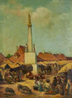 János Thorma (1870-1937) - Market Scene