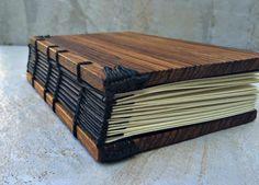 Coptic Bound Zebrawood Journal 4 x 6 x 1.75 by 4LoveandArt