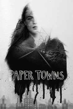 """Double exposure with paint on a textured paper reveals the love & mysteries of Paper Towns. """"She loved mysteries so much that she became one. John Green Movies, Paper Towns, Property Design, Alternative Movie Posters, Double Exposure, Paper Texture, Photography Ideas, Love Her, Photo Wall"""