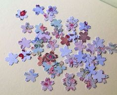 Card Shapes For Craft,Cherry Blossom Shape,Assorted Floral Printed Card,100pk £1.20