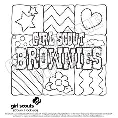 brownie girl scout coloring pages bing images