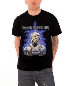 Iron Maiden T Shirt Powerslave Mummy Band Logo Mens Black - Paradiso Clothing