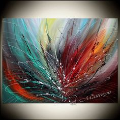 Abstract art large abstract painting on canvas, abstract modern art, wall art…