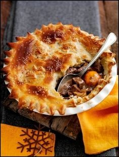 Welsh Recipes: Welsh Chirstmas - Beef and Clementine Pie
