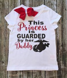 This Princess Is Guarded By Her Daddy USMC Baby Onesies - BellaPiccoli