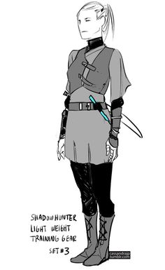 """Concept art for Shadowhunter Gear. Set #1 Set #2 I was trying to think of """"what would you need if you were attacking werewolves?"""" I thought the gear would have to be heavier with all skin covered, to..."""