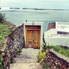 door to surf spot at Bingin beach, Indonesia