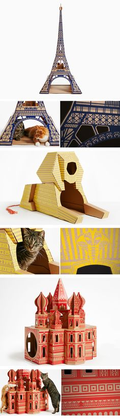 The purrfect compromise for pet owners who like beautiful design, and cats—who really love playing in cardboard boxes.