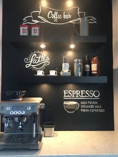 Coffee Bar - Chalkboard wall
