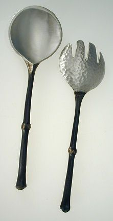 2 Coral Spoon Set Table Art by Michael Michaud for Silver Seasons Four Seasons Design Group