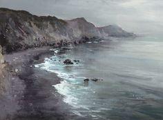 jeremy miranda - acrylic on panel - grey coast