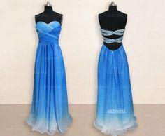 Love the back!!! chiffon gradient prom dresses  gradient prom dress by okbridal, $196.00