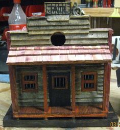 Western Style Jail Bird House by AllensWoodWorknArt on Etsy