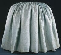 Woman's Quilted Petticoat    Made in Philadelphia, Pennsylvania, United States, North and Central America  Mid- 18th century    Artist/maker unknown, American    Light blue plain weave silk, unbleached wool batting, glazed medium blue plain weave wool lining, light blue silk thread quilting, light blue plain weave silk ribbon   37 x 132 inches (94 x 335.3 cm)    Currently not on view    1900-49