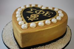 Great graduation cake for Thomas this May.  Cup a Dee Cakes Blog: Sigma Phi Epsilon Fraternity Cake