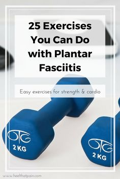 Exercising and weight loss are hard - but with plantar fasciitis they can seem impossible. Plantar Fasciitis Exercises, Plantar Fasciitis Treatment, Help Losing Weight, How To Lose Weight Fast, Loose Weight, Healthy Weight Loss, Weight Loss Tips, Most Effective Diet, Workout List