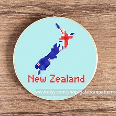 PDF counted cross stitch pattern New Zealand by galabornpatterns