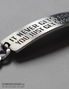 It never gets easier you just get stronger - Bracelet - Stainless Steel - CutAndJacked Shop  - 4