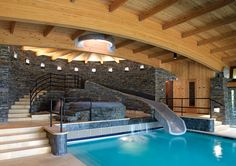 Slide into pool inside your house See more at: http://davisreed.wix.com/wbinventions
