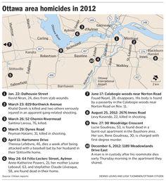 Graphics: Ottawa area homicides in 2012