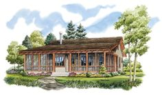 Home Plan HOMEPW76599 - 1031 Square Foot, 2 Bedroom 2 Bathroom + Low Country Home with 0 Garage Bays | Homeplans.com