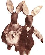 Felt toy rabbits sewing patterns