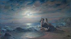 """Victor Karlovich Shtemberg (1863-1921), """"Sirens by the sea"""" by sofi01, via Flickr"""