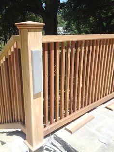 Custom Wood Picket Railing installation