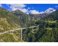 An poster sized print, approx (other products available) - Aerial view on Ganter bridge of Simplon pass road, Valais, Switzerland - Image supplied by AWL Images - Poster printed in Australia Cable Stayed Bridge, Swiss Alps, Alps Switzerland, Aerial View, Travel Images, Photo Wall Art, Scenery, Poster Prints, Canvas Prints