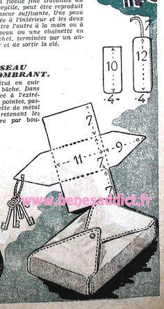 GRATUIT! 35 Patrons Couture Vintage 1950! Vêtements Sacs et Accessoires! Sewing Hacks, Sewing Ideas, Vintage Sewing Patterns, Purses And Bags, Free Pattern, Knitting, Crochet, Fabric, Pouches